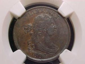 1804 C10 crosslet 4, stems NGC AU55BN $1050.00