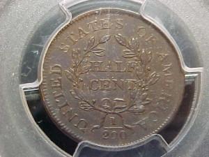 1804 C12 crosslet 4, stemless PCGS AU50 $1125.00