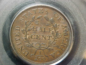 1804 C13 plain 4, stemless PCGS MS62BN $2670.00