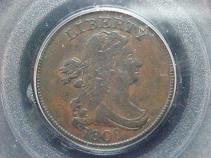 1808 C3 PCGS AU50 $2215.00